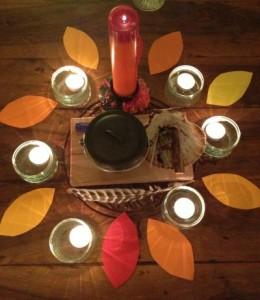 Autumn altar Samhain